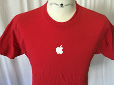 Apple Logo Men's T Shirt Large Not Sold In Stores Employee Only Red Apple.Com