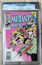 New Mutants Annual #2 - Newsstand Edition - CGC 9.2 - 1st US App PSYLOCKE