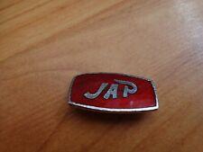 VINTAGE CLASSIC 70'S JAP J.A.P. MOTORCYCLES MOTORBIKE BIKE RED ENAMEL PIN BADGE