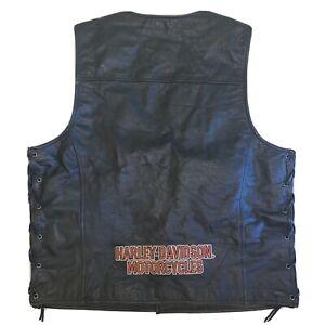 Genuine Harley Davidson Vest Mens Large Snap Lace-Up Motorcycle Biker
