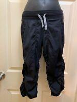Ivivva by Lululemon Dance Studio Pant Capri Black Girls Size 12