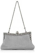 Silver Sparkly Crystal  Clutch Purse/Evening Bag Wedding Bridesmaid Holiday