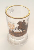 Shot Glass Peter the Great Handled Gold Rimmed