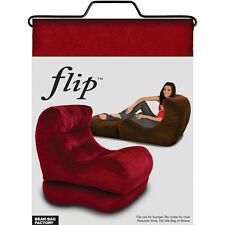 Flip chair adult bean bag lounger- Red Colour