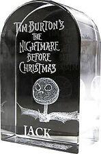 JACK SKELLINGTON Nightmare Before Christmas TOMBSTONE ACRYLIC GLASS PAPERWEIGHT