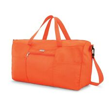 """Samsonite Fold Away Duffel Medium 22"""" Orange Travel Luggage Collapsible Bag"""