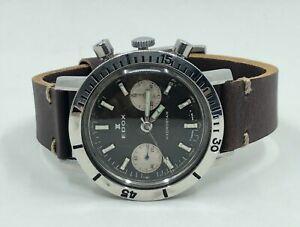Vintage Mens Edox 1960's Divers Chronograph Watch - Rotating Bezel