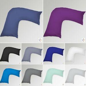 Plain Dyed V shaped Pillowcases/ Orthopedic support nursing V Pillowcases