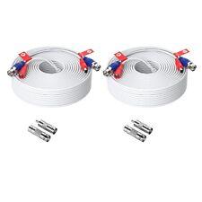 Zosi 4X 30M 100FT Cable de alimentación DC Video para CCTV Cámara DVR Seguridad sistema