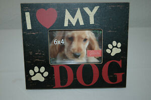 """I Love My Dog"" Photo Frame, New"