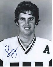 Larry Pleau Signed New England Whalers 8x10 Photo