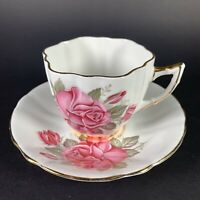 Vintage Royal Prince Tea Cup and Saucer Set Pink Rose with Gold Trim