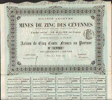 Action: Mines de ZINC des CÉVENNES (LOZÈRE 48) (Q)