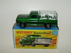 Matchbox Superfast No 50 Kennel Truck Black Base NW VN Mint in N Mint Box