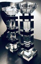 Art Deco Modernist Kristallglas Babylon Berlin Kerzenständer Top Luxus 70er