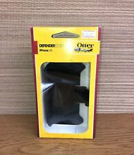 New Otterbox Defender Series Case Holster Belt Clip for Apple Iphone 4S 4 Black