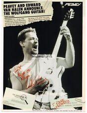 1996 PEAVEY Wolfgang Electric Guitar EDWARD VAN HALEN EDDIE Vtg Print Ad