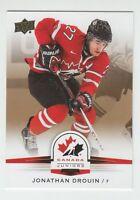 (56083) 2014-15 UPPER DECK TEAM CANADA JUNIORS GOLD JONATHAN DROUIN #47