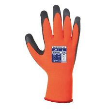 12 X Portwest Thermal Grip Builder Outdoor Work Safety Gloves Insulated A140 M Pack of 1 Black