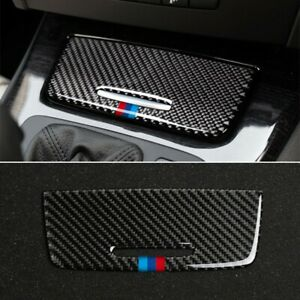 Carbon Fiber Cigarette Lighter Panel Trim For BMW 3Series E90 E92 E93 Accessorie
