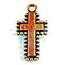50Pcs. Wholesale Tibetan Antique Copper Cross Pendants Charm Earring Drops Q0299