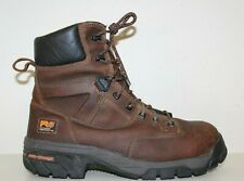 """Timberland PRO Mens Helix 8"""" Comp Toe WP Work Boots Sz 11 W Brown Leather"""
