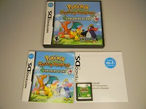 Pokemon Mystery Dungeon: Explorers of Sky (DS, 2009) complete manual box usa