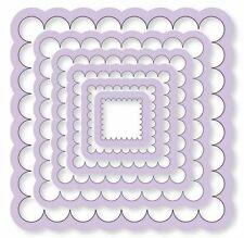 Prägeschablone Stanzschablone Stanze Cart-Us Quadrate Scallop Square 6Stück 0104