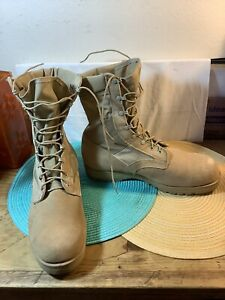 US Military Sand Combat Tactical Boots 215 M 13.5W