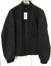 "Armani Collezioni Bomber Jacket Waterproof 38"" Chest Black Eu 48 New RRP £480"