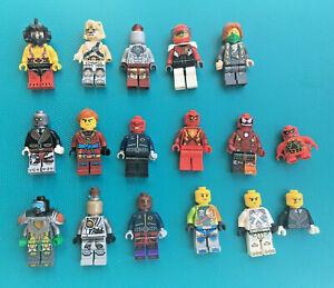 Lego Ninjago Marvel Minifigure Bundle x 16 + Weapons/Swords/Guns Job Lot