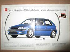 *ADVERTISING PUBBLICITA' CITROEN SAXO 16V-120 cv   - 1997