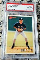DEREK JETER 1993 Bowman #1 Draft Pick Rookie Card RC PSA 8 HOF New York Yankees