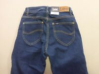 116 WOMENS NWT LEE MID LICKS BLUE WASH STRETCH JEANS 6 $170 RRP.