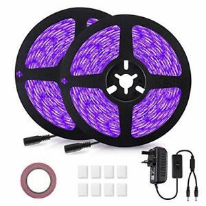 LED UV Strip Lights,  LED UV Blacklight Strip 12V 10M/32.8ft 600 LED Self