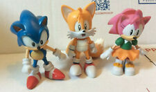 "Jazwares Classic Sonic Lot 3"" Inch Figure Toy Sonic Amy and Tails RARE"