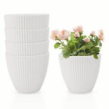 5 Pcs 6' Plastic Planters Flower Plant Pots Decorative Gardening for Succulent