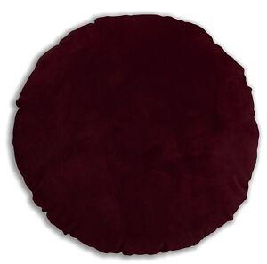 Mf55n Burgundy Thick Microfiber Velvet Round Shape Cushion Cover Custom Size