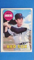 1969 Topps Mike Andrews Boston Red Sox Baseball Card #52