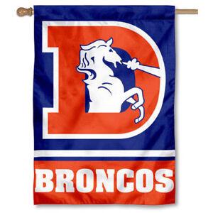 NFL Denver Broncos Throwback Vintage House Flag and Banner