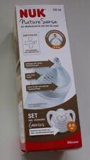 NUK Nature Sense Set Gr S (0-6 M) Trinkflasche 150ml ohne BPA + Schnuller Genius
