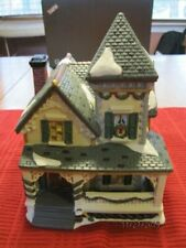 Christmas Porcelain Hand Painted Lighted House, Victorian Series/ Vintage
