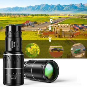 16x52 Telescopic Monocular Night Vision Waterproof Telescope Fit Hunting Tourism