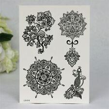 1 Blatt Körper Tattoo Aufkleber Sticker Wasserfest Floral Pattern Schmuck