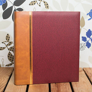 CLASSIC TRADITIONAL ROYAL RED PHOTO ALBUM - FITS ANY SIZE PHOTO UPTO 12x10 INCH