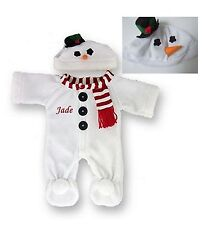 """Teddy Bear Clothes Snowman Outfit Personalised fits Build a Bear Teddies 15-16"""""""