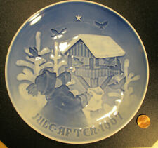 Collectible 1967 Plate Christmas Birds by Bing and Grondahl Denmark signed