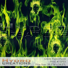 HYDROGRAPHIC FILM FOR HYDRO DIPPING WATER TRANSFER FILM GREEN FLAME FACES