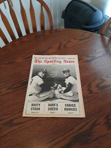 APRIL 27,1968-THE SPORTING NEWS-JIM FREGOSI AND BOBBY KNOOP OF THE ANGELS(MINT)