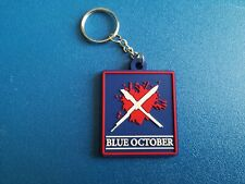 BLUE OCTOBER KEY-RING SILICONE RUBBER MUSIC FESTIVAL